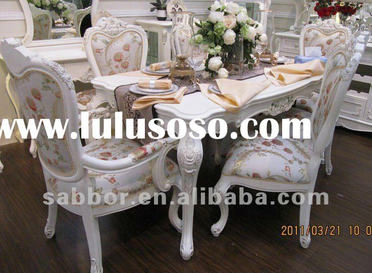 LCT-02 dining table designs hand carved dining table rubberwood dining table