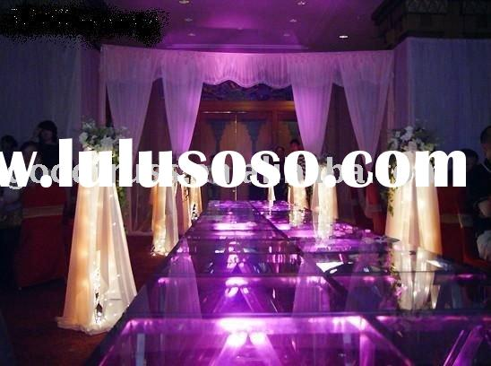wedding stage decoration LED Acrylic wedding stage decoration 1 aluminum