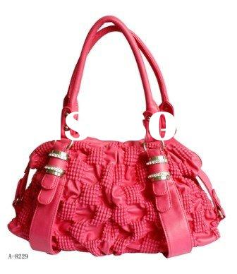 Lady's Fashion Hand bag/New Trend Leather Hand bag/Red lady handbag