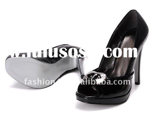 Latest ladies high heel leather shoes wholesale