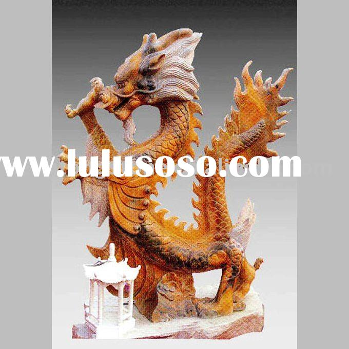 Marble Dragon Animal Carving Statue