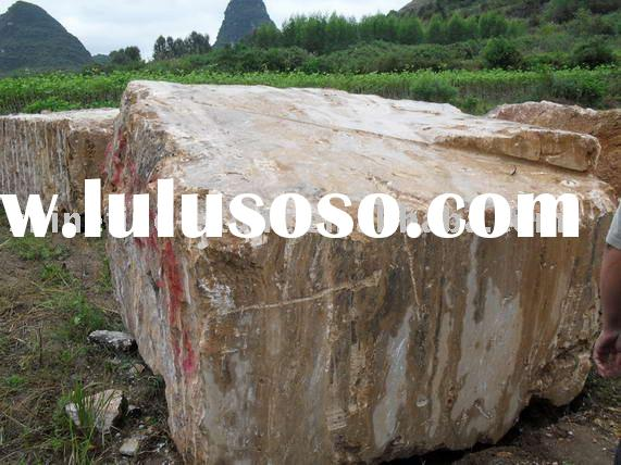 Marble slabs Wood yellow grain marble slabs block
