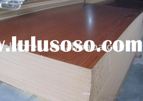 Melamine MDF board panel laminated wood engineered timber construction furniture building pvc veneer