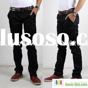 Mens Casual Black Pants