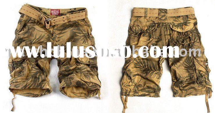 Men's cargo shorts with baggy S3521M 4#.camo shorts