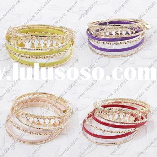 Metal alloy bracelets, Enamel charms,Wholesale beads, European style, Chinese style