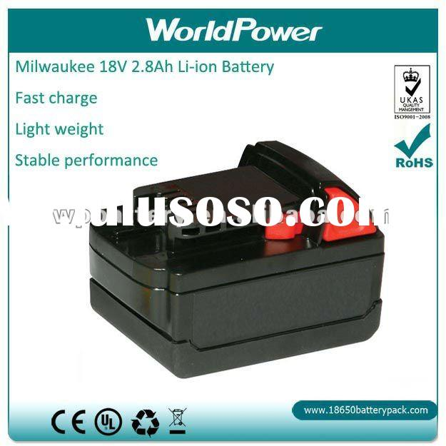 Milwaukee replacement li-ion battery 18V 2.8Ah