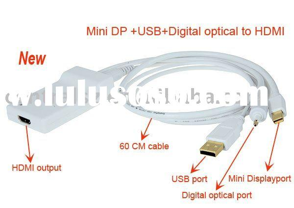Mini Display Port + USB Audio+Optical to HDMI Adapter (60CM)