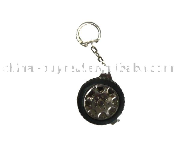 Mini measuring tape with key ring