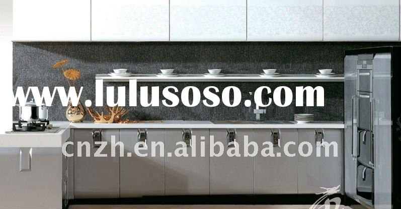 Modular kichen cabinet with high glossy mdf board for kitchen door