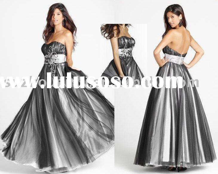 N0343 Fashion Strapless Formal Prom gown