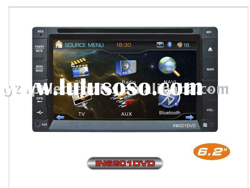 NEW 6.2 inch fixed panel double din indash car dvd with 3D UI