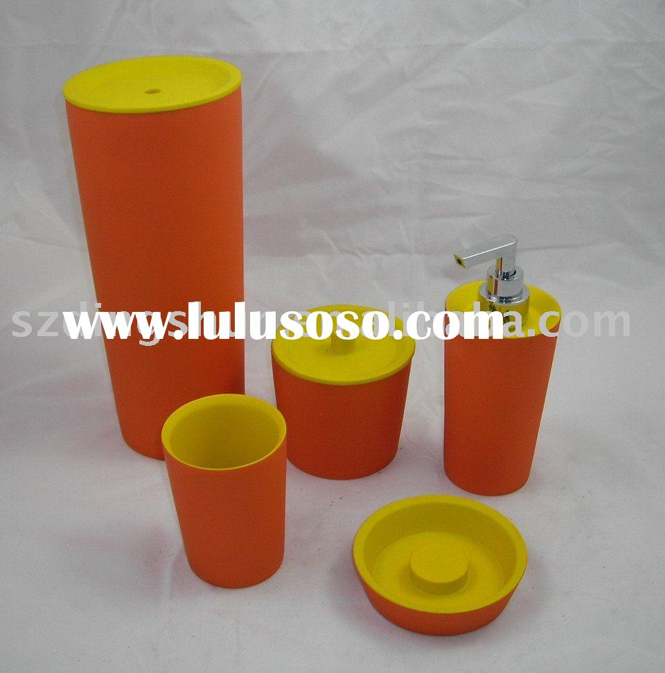 NEW orange and yellow Bathroom Accessories