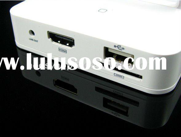 NOOSY HDMI docking station for iPad/iPad 2/iPhone 4/iPod touch 4 with remote controller