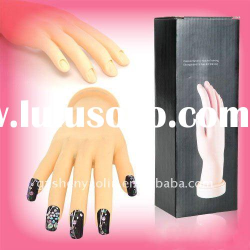 Nail Plastic Movable Adjust Hand Model Practice Tool NA178