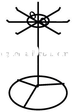 Necklace Display Stand / Wire Necklace Holder / Jewelry Counter Display Rack