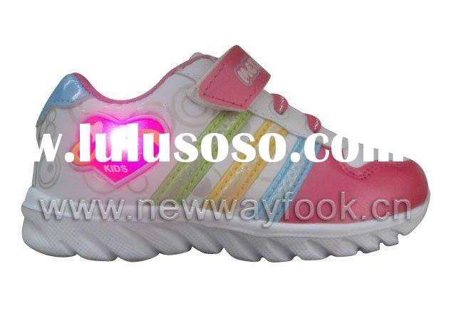 New design children's shoes with lights,direct supply from factory