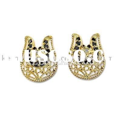 New jewelry for Spring !!! Wholesale silver earrings with precious stones in different styles, OEM &