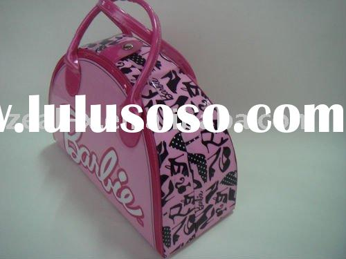 Nice cosmetic case with mirror inside for ladies and girls cosmetic packaging.