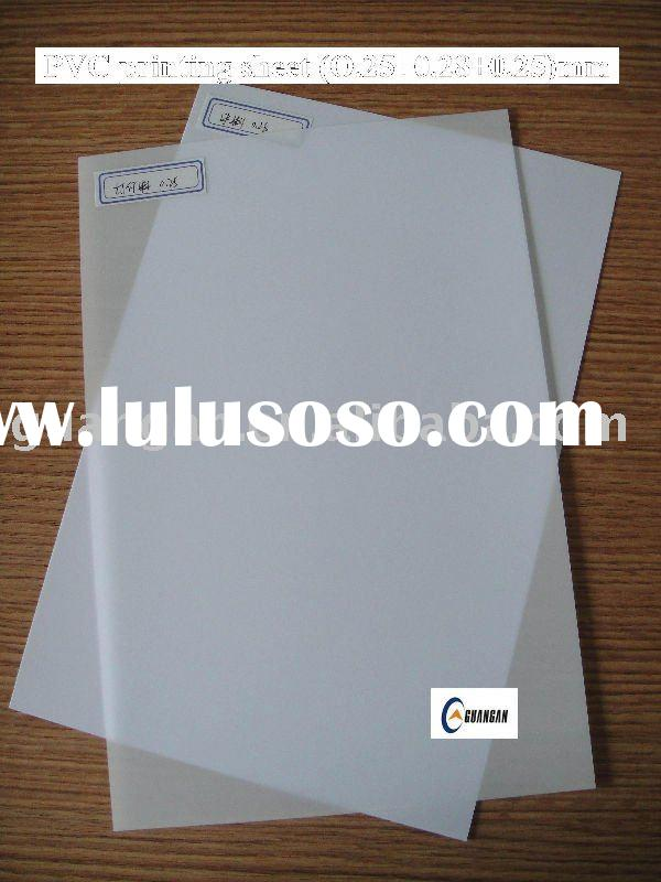 No-Laminated 0.25+0.48+0.25mm(200*300mm) inkjet printable pvc plastic sheet