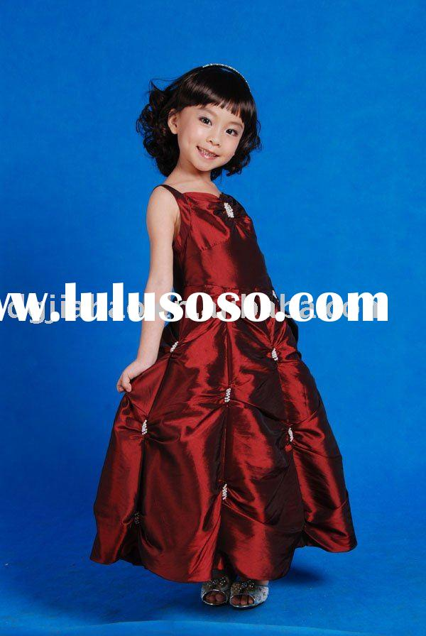 ON SALE!! Elegant Unique Catching Plait Beaded Red Prom Dress for Kids