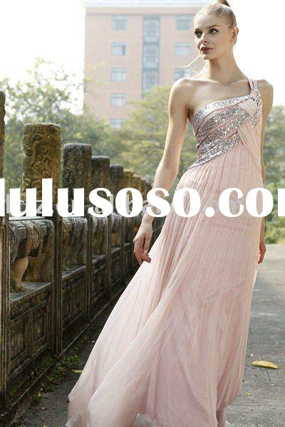 On sale One shoulder Sequins women's evening dress Backless A-line C80168