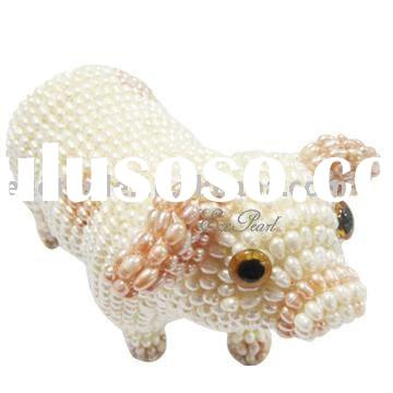 Original Pearl Pig Folk Handmade Craft