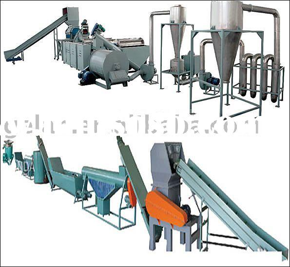 PET flakes crushing, recycling & washing production line