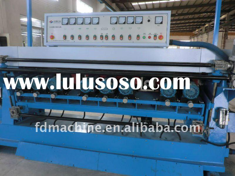 PLC control 9 wheels glass beveling Machine