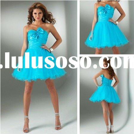 PM369 2012 New Style Corset Beautiful Prom Dresses Sky Blue