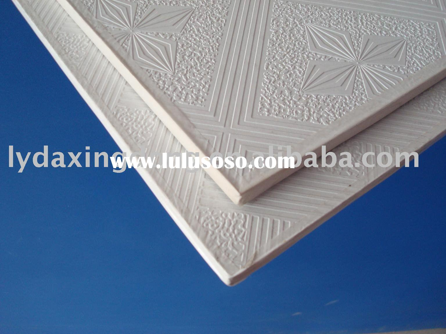 PVC laminated gypsum celing board