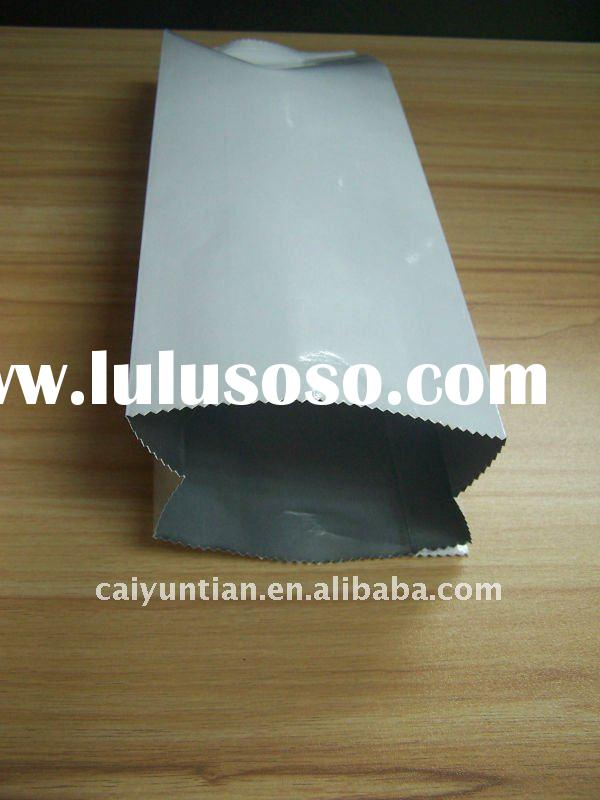 Paper and plastic laminated Coffee Bag quad seal Coffee Bag with Valve