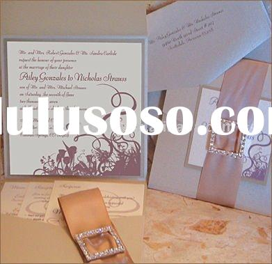 Pocket Fold Wedding Cards EA104 This is the detail of weddingl card