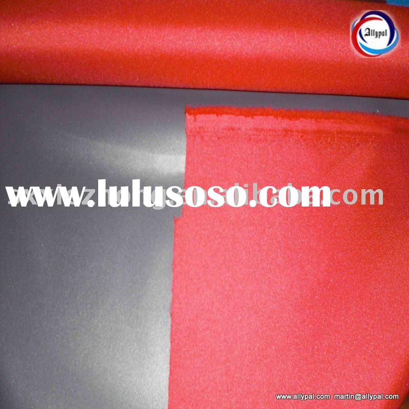 Polyester oxford fabric coated for tent(flame retardant, PU, black out)