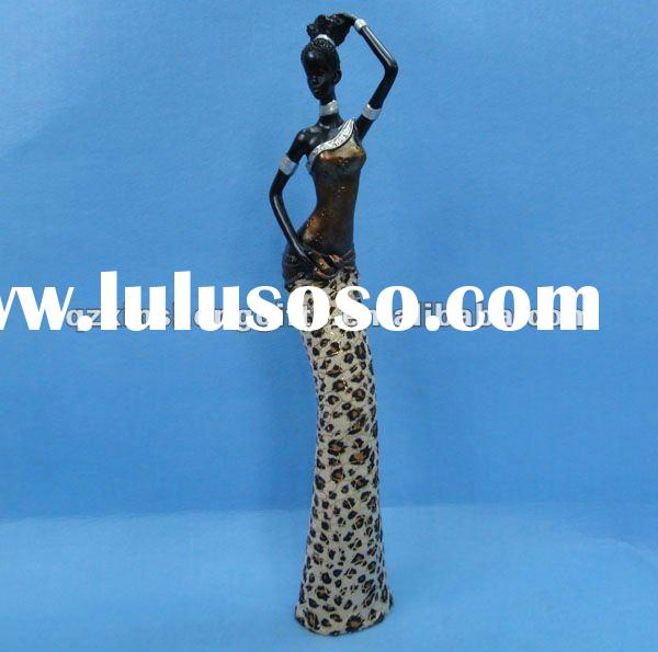 Polyresin African Lady Figurine Home Decoration