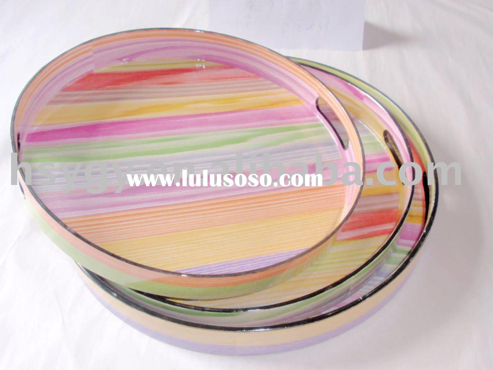 Round pp plastic serving tray