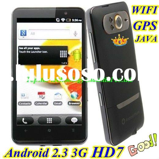 Royal Fashionable Smart Mobile Phone HD7 3G Phone with Android 2.3 GPS WIFI 5.0 M Camera 4.3 &#3