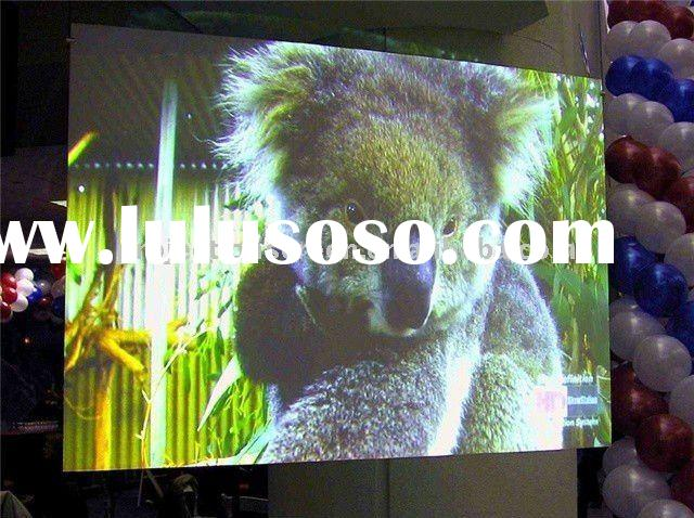 Self adhesive transparent rear projection screen film