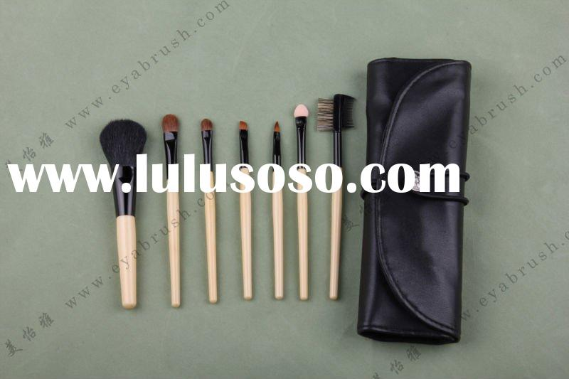 Seven-piece Makeup/Travel Cosmetic Brush Set with Bag, Customized Logos are Welcome