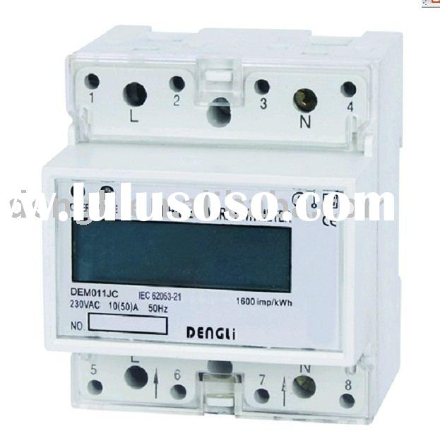 Single phase din rail kwh meter ( electric meter, energy meter,kilowatt hour meter,watt hour meter,d