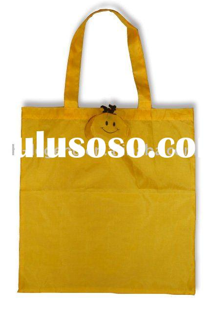 Smile face foldable bag