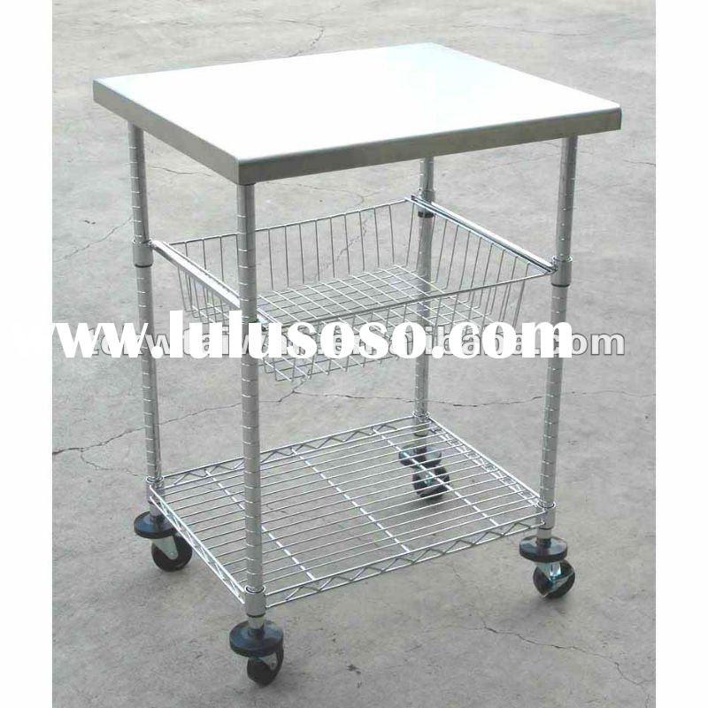 Stainless Steel Utility Carts with Wheels