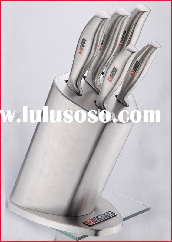 Stainless steel stand knife set for household