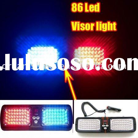 Super Bright Car Truck Emergency 86 Led Visor light / Visor Strobe light Red / Blue White Green
