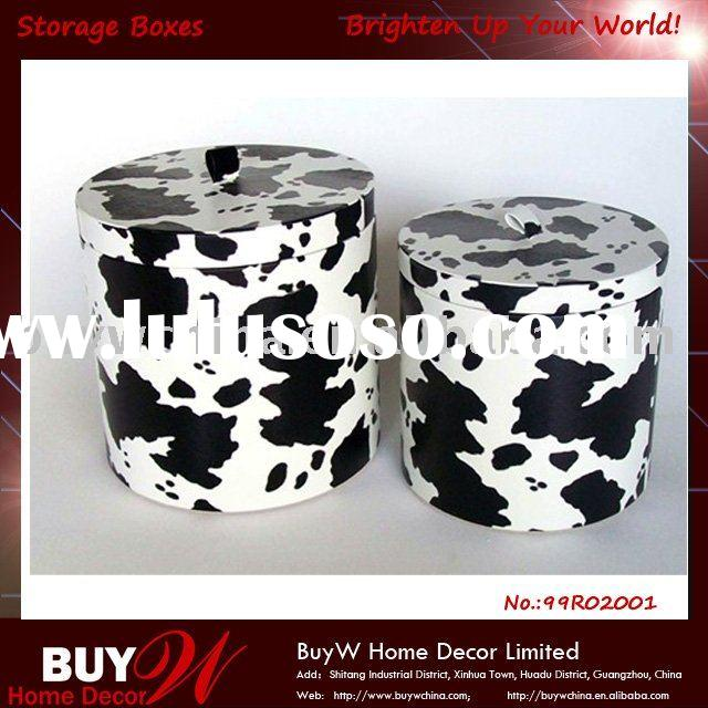 The Newest Christmas Decorative S/2 Round storage boxes /Storage bin