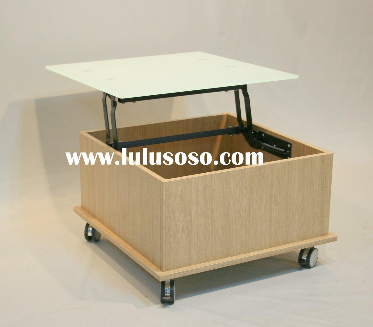 Top movable square coffee table