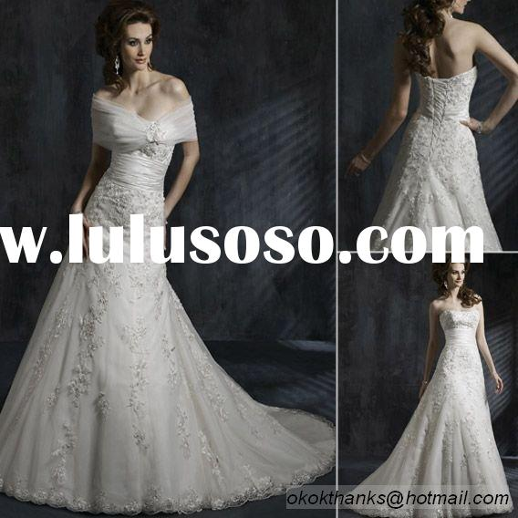 UK119 Slim sheath style lace backless wedding dress