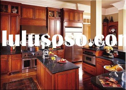 USA Style Kitchen Cabinets with Granite Countertop(Cherry Wood)