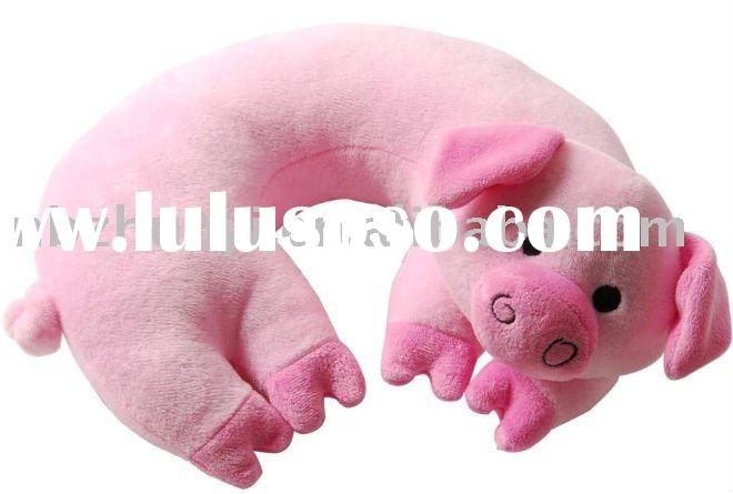 U neck pig cushion,U neck microbead pillow