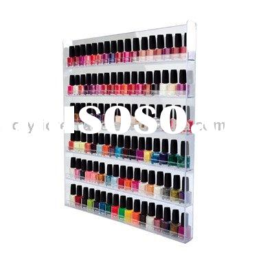 Wall Mounted Acrylic Nail Polish Display Stand